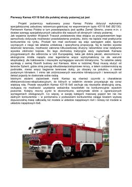 Pierwszy Kamaz 43118 6x6 dla polskiej straży