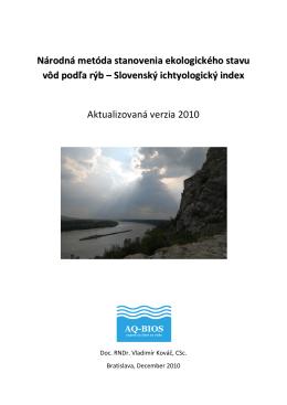 Národná metóda stanovenia ekologického stavu vôd - AQ-BIOS