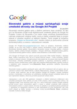 TS OG spristupnuje svoje skvosty cez Google Art