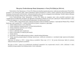 PLAN PRACY ŚDS na 2014 r.