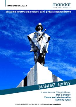 MANDAT správy November 2014
