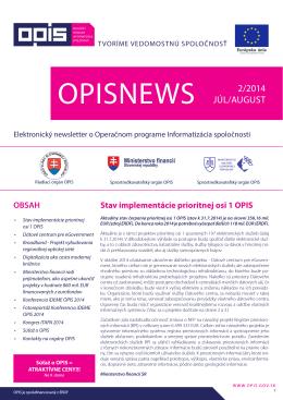 opisnews 2/2014 - Partnerstvá pre prosperitu