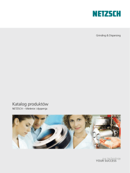 Katalog produktów - NETZSCH Grinding & Dispersing