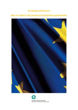 Európsky parlament Ako sú volení írski poslanci Európskeho