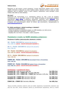 Stiahnúť PDF - Hromadnymail.sk