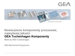 GEA Tuchenhagen Komponenty - GEA Tuchenhagen Polska sp. z oo