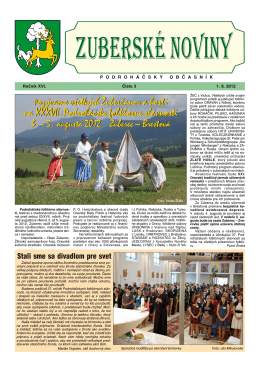 Zuberské noviny 3/2012 Formát PDF