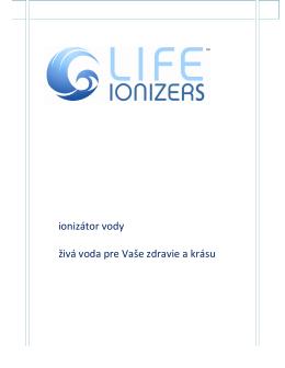 ionizátor vody živá voda pre Vaše zdravie a krásu
