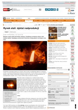 Rynek stali: dyktat nadprodukcji - Hutnictwo