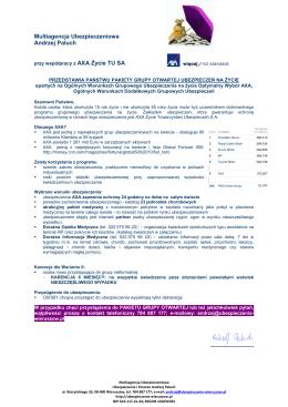 Oferta Grupy Otwartej - Ubezpieczenia Wieruszów