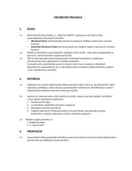 Všeobecné pravidlá SOP 2015