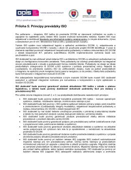 Príloha 5: Princípy prevádzky ISO