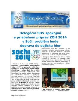 Olympijské aktuality 4/2013 - Slovenský olympijský výbor