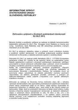 EU SILC 2013 - Štatistický úrad SR