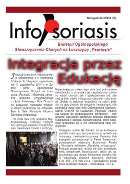 13-go numeru gazetki InfoPsoriasis