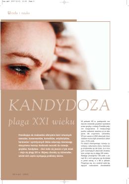 KANDYDOZA plaga XXI wieku