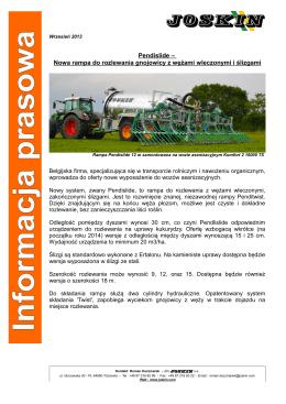 Pendislide – Nowa rampa do rozlewania gnojowicy z
