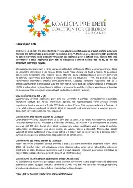 Stiahnuť TLAČOVÚ SPRÁVU.pdf (11.11.2014)