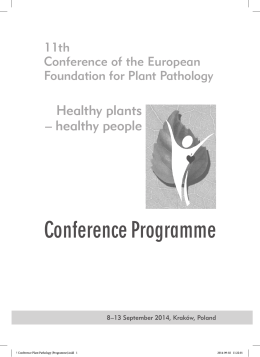 Conference Programme - 11th Conference of the European