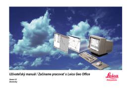 Užívateľský manuál / Začíname pracovať s Leica Geo Office
