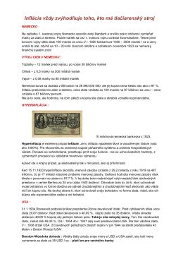 dejiny peňaz - my