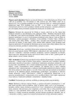 Záverečná správa z pobytu Belehrad, Srbsko Klinická stáž IFMSA