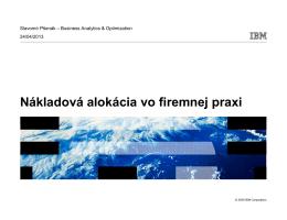 Slavomír Pšenák, IBM manažér riešení v oblasti analytiky a