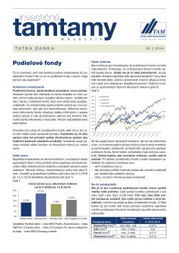 Podielové fondy - Tatra Asset Management