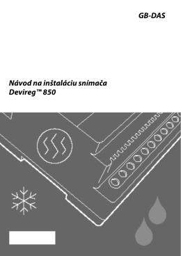 Devireg 850 inštalácia snímačov