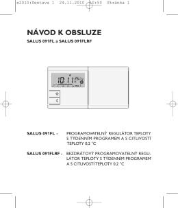Návod k obsluze pro termostat SALUS 091FL a - Thermo