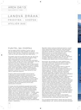 ARCH: Lanová dráha Priehyba - Chopok (2013) /PDF