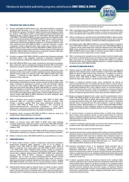 Všeobecné obchodné podmienky programu odmeňovania OMV