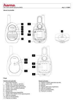 /SK/ Hama detská pestúnka BM50 obj. č. 113995 Návod na použitie