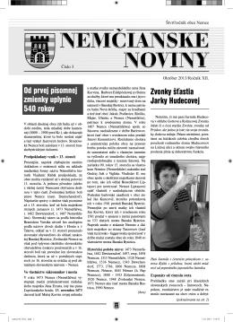 Nemčianske noviny č. 3/2013