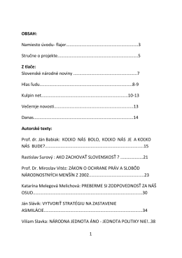 Ako ďalej Slováci – Závery a odporúčania