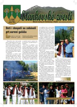 Stankovské zvesti, 2010, III. ročník, 4. číslo