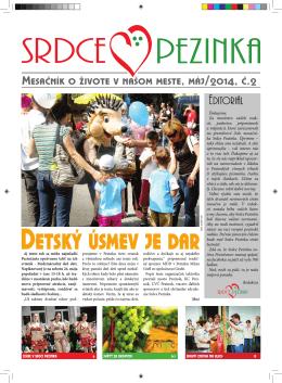 Máj 2014 - Srdce Pezinka