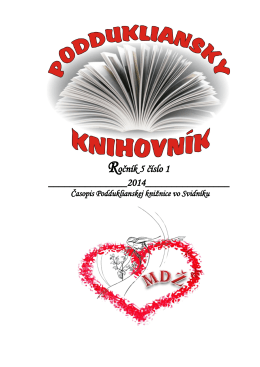 Ročník 5 číslo 1 - Podduklianska knižnica vo Svidníku