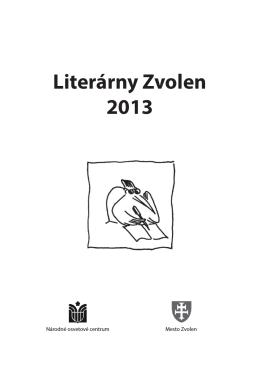 Literárny Zvolen 2013 - krajská knižnica ľudovíta štúra zvolen