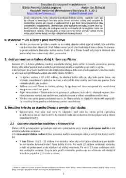 Sexuálna čistota pred manželstvom - NKZ Bratislava