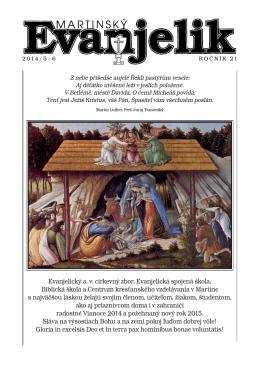 martinský evanjelik 5 - 6 / 2014