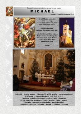 M I C H A E L - Rímskokatolícka cirkev Farnosť Levice mesto