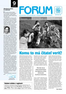 9 - Slovenský syndikát novinárov
