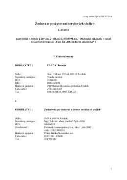 Servisné služby 23/2014