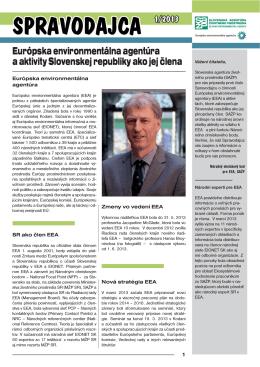 Spravodajca EEA 1/2013