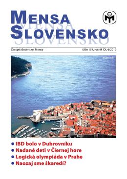 MENSA SLOVENSKO - Logická olympiáda