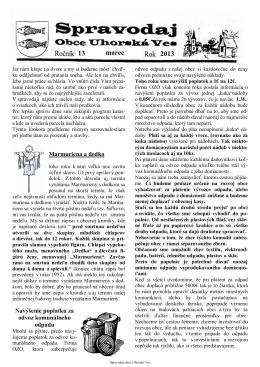 Spravodaj č. 01/2013