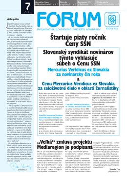 7 - Slovenský syndikát novinárov