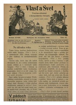 Vlasť a Svet z 28.12.1913