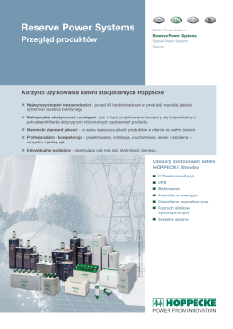 Baterie Stacjonarne - przegląd produktów